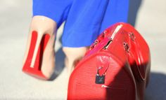 Red Soles + Red Bag