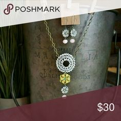 """PLUNDER DESIGN - ADDILYN NECKLACE This white,  round brooch serves as the perfect starting point for this perfectly vintage delight. Length: 26"""". Add the Nicholina Earrings for an additional $16. Length: 1.5"""" drop. I am a Plunder Design Distributor. All of my products carry the Plunder Design warranty. Hypoallergenic, Lead & Nickel-Free Plunder Design  Jewelry Necklaces"""