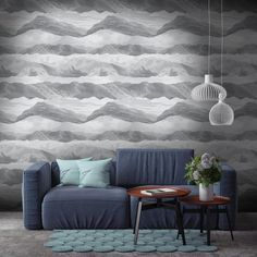 Our eye-catching Elysian Mountains and Clouds Wallpaper features undulating vintage etched mountains and cloud formations in tones of grey. Designed by Woodchip & Magnolia, this stunning wallcovering would make a great interior feature on any wall. Decor, Wallpaper, Grey Walls, Shop Wallpaper, Magnolia Wallpaper, Wallpaper Stores, Eclectic Wallpaper, Feature Wall Wallpaper, Cloud Wallpaper
