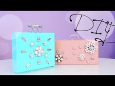 papírdobozból diy clutch DIY Fashion: How to Make a Jewelry Box Clutch - Great Gift Idea Diy Jewelry Videos, Diy Crafts Videos, Diy And Crafts, Diy Box Clutch, Packing Jewelry, Diy Mode, Diy Rings, Diy Accessories, Diy Tutorial