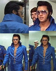 Ladies and Gentlemen, Elvis has left the building! I used to have a poster of him in this outfit and I feel more in love every time I looked at it and that was a lot.
