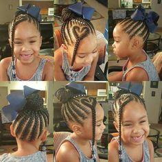 Cute Little Girl Braids! Cute Little Girl Braids! Little Girl Braids, Black Girl Braids, Braids For Kids, Girls Braids, Children Braids, Little Girl Braid Styles, Kid Braids, Children Hair, Hair Kids