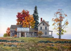 """Hilltop Autumn"" by Fred Swan"