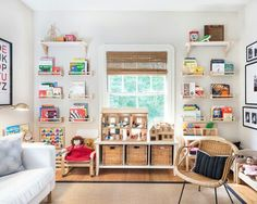 Ikea kids decor kids farmhouse with white sofa white armchair white sofa Playroom Design, Kids Room Design, Playroom Ideas, Playroom Layout, Colorful Playroom, Modern Playroom, Kid Playroom, Office Playroom, Playroom Organization