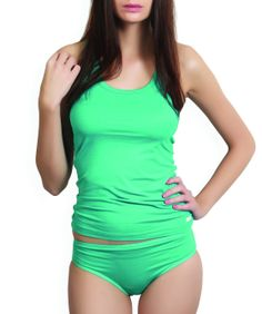 Flatter yourself with the softest of fabrics in vibrant colour and add mystery and sensuousness to your innerwear and sleepwear. This exclusive collection infuses a sense of satisfaction, confidence and femininity.BRAND: AlbaCATEGORY: Tank Top with PantyCOLOUR: Green/GreenMATERIAL: Micro Modal/Micro ModalSIZE: This product conforms to standard brand sizing. For your shopping convenience, please refer to the following size chart. All measurements are in inches.                 Size       S…