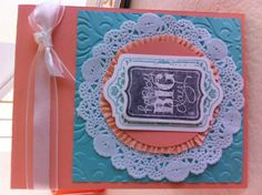 New card made at Stampin' Up July class with Tami Waddell.