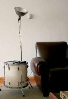 Drum as coffee table- awesome!