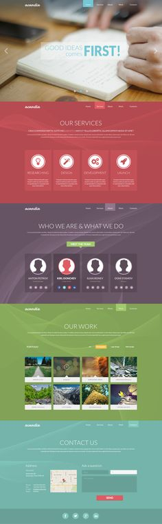 One Page Portfolio Flat PSD Template