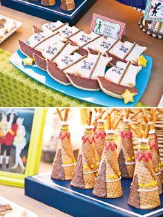 Magical Peter Pan Party {4th Birthday}Sugar Cookies & Teepee Treats