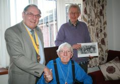 Pictured left to right are - Fred Watkins, chairman of Hethersett Parish Council, Bill Reekie, retiring archivist, and Gary Wyatt, the new H...