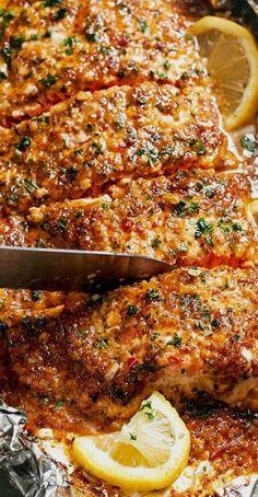 Honey Garlic Salmon in Foil — Eatwell101.com