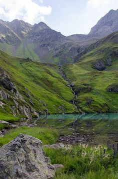 a wonderful nature jewel is the area of the faselfad high up in the mountains near st.anton am arlberg with 6 lakes in front of a glacier Amazing Nature, Anton, Mountains, Travel, Landscapes, Voyage, Trips, Scenery, Viajes