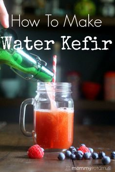 How To Make Water Kefir - Fizzy and sweet and rich in kid-friendly probiotics, this is one of my favorite ferments! It only takes about five minutes of hands on time to make, too.