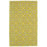 Found it at Wayfair - Glam Yellow Geometric Area Rug