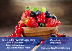 Tell your parents or kids about the benefits of #SuperBerries in the prevention of free radical damage and improving overall health.