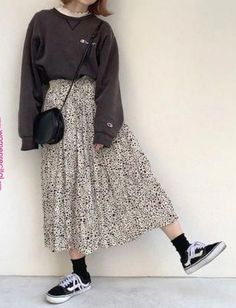 Winter korean fashion pic# korean fashion styles in 2019 long skirt fashion. Shion winter korean fashion pic# korean fashion styles in 2019 long skirt fashion. Long Skirt Fashion, Long Skirt Outfits, Frock Fashion, Outfits Casual, Indie Fashion, Retro Outfits, Mode Outfits, Korean Outfits, Fasion