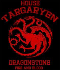 Camiseta Juego de Tronos. Logo casa Targaryen