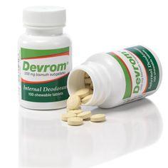 Devrom® - The Partheon Company, Inc. - Devrom® Chewable Tablets, $11.95 (http://devrom.com/devrom-chewable-tablets-1/)    for feas and gas.