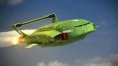 Thunderbird 2 is go! Thunderbirds Are Go, New Tv Series, Spaceship Concept, Photo Vintage, Stars Craft, Cult, Cartoon Tv Shows, Kids Tv, Spaceships