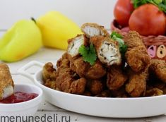 Рецепт рыбных наггетсов / Меню недели