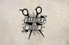 Barbershop Logo  Logo Design Hair Logo  Premade by fremusdesign
