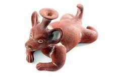Ceramic sculpture - Xoloitzcuintli Companion - NOVICA
