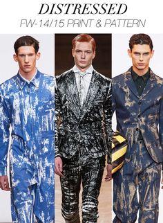 Distressed prints FW 14/15 #fashion #trend forecast #menswear