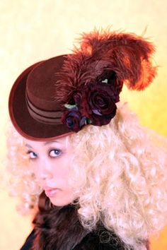 (Brown × Brown) opera hat by Triple Fortune