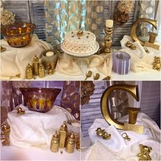 Gold and cream shower