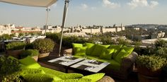 Treat yourself to fine cuisine while looking over the remarkable view of ancient Jerusalem.
