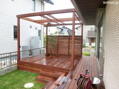 Hot Tub Backyard, Outdoor Furniture, Outdoor Decor, Terrace, Pergola, Shed, Deck, Outdoor Structures, House