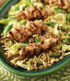 Recipe // Chicken Satay Salad with Farro