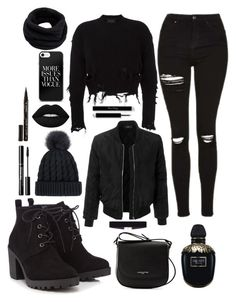 """""""Solid Black"""" by gracefully-artistic on Polyvore featuring Red Herring, adidas Originals, LE3NO, Lancaster, 8 Other Reasons, Alexander McQueen, Helmut Lang and Smith & Cult"""