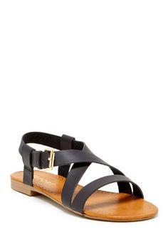 Simple black sandals//