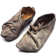 fivestrings-attached:  irisharchaeology:    A pair of cowhide shoes. Found with a Danish bog body they date from c. 355-47 BC   Source   Aah! These are the ones I'm hoping to make next when my current bog shoes wear out. My friend has a pair and they're lovely. c: