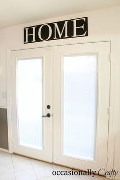HOME: Stenciled Wall Letters