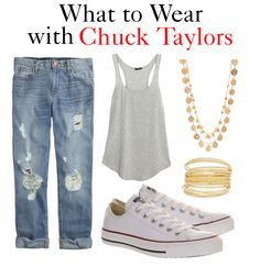 What to Wear with Chuck Taylors http://www.momgenerations.com/2014/08/5-ways-to-wear-converse-chuck-taylors/ #fashion #style