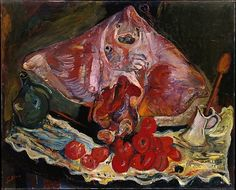 Soutine - Stilll Life with Rayfish, 1924  (MET NY). Сутин - Натюрморт с Rayfish 1924