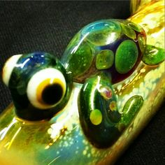 Turtle Critter Hand Blown Glass Pipe Color Changing by BoGlass