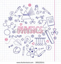 Hand drawn vector set with physics equipment. Can be used fo.- Hand drawn vector set with physics equipment. Can be used for school design. Hand drawn vector set with physics equipment. Can be used for school design. Icon Set, Happy New Year Text, School Equipment, School Notebooks, School Notes, School School, Doodle Sketch, Baby Shower Cards, Cover Pages