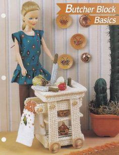 Butcher-Block-Basics-Annie-039-s-Fashion-Doll-Plastic-Canvas-Pattern-Club-FP07-03