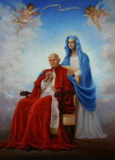 The Pope Saint John Paul II was well-known for his intense devotion to Mother Mary