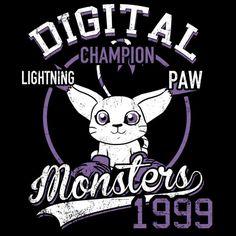 Lightning Paw T-Shirt $12.99 Digimon tee at Pop Up Tee!