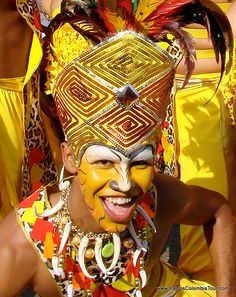 Dancers at Barranquilla Carnival, Colombia. UNESCO Masterpieces of the Oral and Intangible Heritage of Humanity