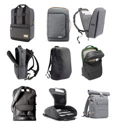 These 9 laptop backpacks combine understated modern aesthetics with padded protection and storage features for work and travel.