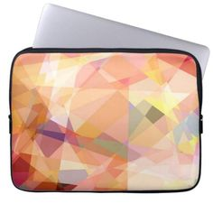 Mosaic Abstract Art | Modern Geometric Pattern 24 Laptop Sleeve