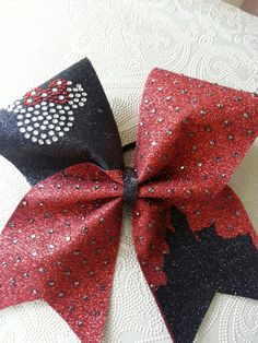 Disney Inspired Glitter Cheer Bow by GlamourBowsByAnna on Etsy