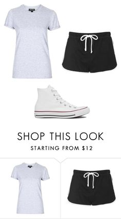 """""""Untitled #4950"""" by clarry-sinclair ❤ liked on Polyvore featuring Topshop and Converse"""