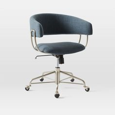 Attirant Halifax Upholstered Office Chair In Regal Blue. See Swatch At West Elm  Storeu2026