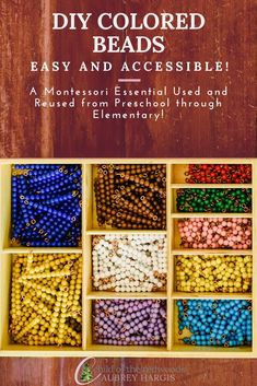 These DIY Colored Beads Are Going to Knock Your Montessori Socks Off — Aubrey Hargis - Child of the